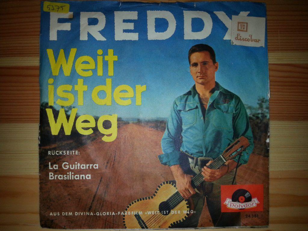 """Freddy Quinn, Weit ist der Weg, 7""""Single, Polydor, Foto: A. Ohlmeyer"""