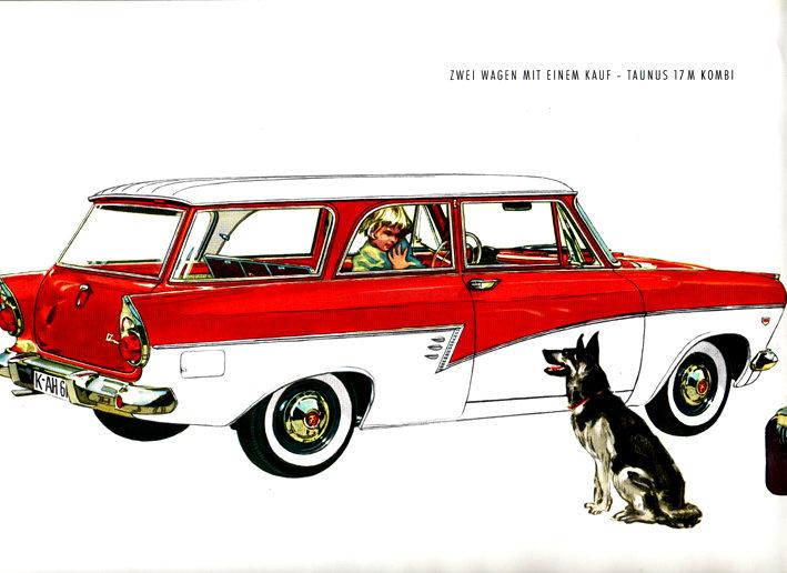 Ford Taunus 17 M Kombi Werbung